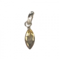 Faceted Citrine Stone Pendant setted in Sterling Silver