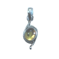 Nice Pendant made with Beautiful Citrine Stone and Sterling Silver