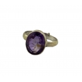 R0010-Nice Facetted Oval Natural Amythyst Ring-Rashi