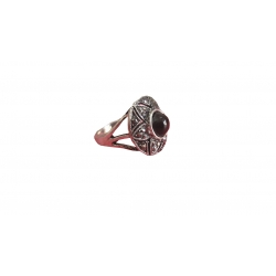R0014-Beautiful Ring With Black Onyx Stone & Sterling Silver