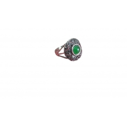 R0018-Beautiful Ring With Green Onyx Stone
