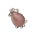 R0058-Nice Ring with Rose Quartz Stone and Sterling Silver