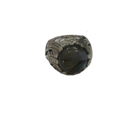 R0080-Beautiful sterling Silver Ring Setted With Nice Black Rainbow Moon Stone