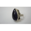 R0085-Beautiful sterling Silver Ring Setted With Nice Amethyst Stone