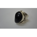 R0086-Beautiful sterling Silver Ring Setted With Nice Amethyst Stone