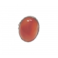 R0093-Nice Ring with Carnelian Stone and Sterling Silver