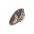 R0094-Nice Ring with Smoky Quartz Stone and Sterling Silver
