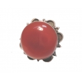 R0096-Nice Ring with Carnelian Stone and Sterling Silver