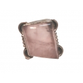 R0097-Nice Ring with Rose Quartz Stone and Sterling Silver