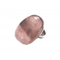 R0099-Nice Ring with Rose Quartz Stone and Sterling Silver