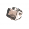 R0102-Nice Ring with Smoky Quartz Stone and Sterling Silver