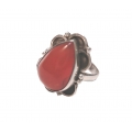 R0104-Nice Ring with Carnelian Stone and Sterling Silver