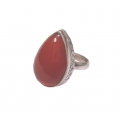 R0106-Nice Ring with Carnelian Stone and Sterling Silver