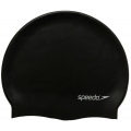 Speedo Swimming Pain Flat Slicone Cap Black Free Size