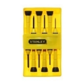 Stanley 6 Pc Bi-Material Handle Precision Screwdriver Set 66-052