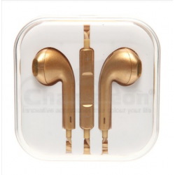 Earphones  for iphone 4 5 5G ipad ipad mini With Remote And Mic-Golden Color