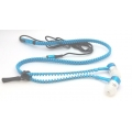 Blue Zip-Style Noise-isolating Earphone.