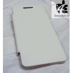 White Blackberry Z10 Premium Quality Leather Flip battery Back Cover Case pouch