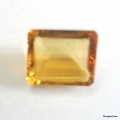 Nice Faceted Octagon Cut Golden Topaz(Citrine) Gem Stone, Rashi Ratan