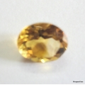 Nice Faceted Oval Cut Golden Topaz(Citrine) Gem Stone, Rashi Ratan