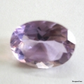 Nice Faceted Oval Cut Amethyst Gem Stone, Rashi Ratan