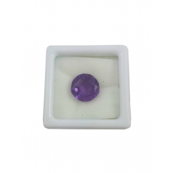 Nice Faceted Oval Cut Natural Amethyst Gem Stone-3.78Cts