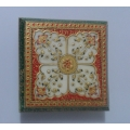 Rajasthan Crafts & Cultures Marble Chowki with Painting work