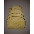 set of 4 pouches (yellow , white )