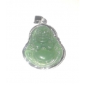 green laughting budda pendant