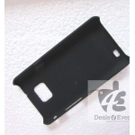 PREMIUM Black Rubberised Hard back Case Cover Pouch Samsung Galaxy S2 I9100
