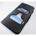 Black Caller ID Book Flip cover Table talk Case Pouch Karbonn A15 Smartphone