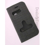 Black Caller ID Book Flip Case table talk Cover Pouch for Micromax A68 A-68 A 68