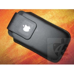 Black flip pouch case cover for Apple iPhone 4 4G 4S