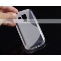 Transparent S-LINE SILICONE GEL CASE COVER FOR samsung 7562