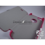 BRAND NEW DARK PINK HARD SHELL MAGNATE FLIP CASE COVER POUCH FOR APPLE IPHONE 5