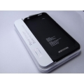 NEW External 1900mAh Emergency Battery Back Case for apple iPhone 4 4S 4g WHITE