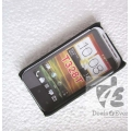 Solid Black Rubberised Hard Back Cover,Case,Pouch for HTC Desire VT T328T