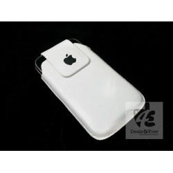 White flip pouch cover case for Apple iPhone 4 4G 4S