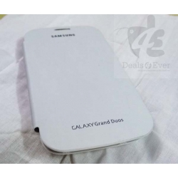 NEW WHITE HARD BACK FLIP CASE COVER POUCH FOR SAMSUNG Galaxy Grand Duos I9082