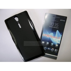 BLACK SILICONE GEL CASE BACK COVER POUCH FOR SONY XPERIA S LT26I