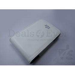 BRAND NEW WHITE LEATHER POUCH pocket CASE COVER FOR BLACKBERRY 9700 with wallet
