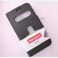 Black Caller ID Book Flip Case table top Cover Pouch for Karbonn A11 A 11