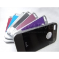 Brand New Black Metalic Hard Back Case Cover Apple iPhone 4G 4GS With White Back