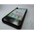 Brand New Black Metalic Hard Back Case Cover For Apple iPhone 4G 4GS