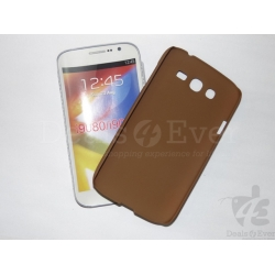 Brown Rubberized Case Hard Back Cover Pouch Samsung Galaxy Grand i9082 i9080