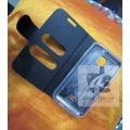 Caller ID Book cover Pouch Flip Carry Case Micromax A87 Ninja 4.0 M Logo