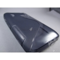 Clear Black smoky S Line Silicon gel jelly Case Cover Pouch for iball andy 3n