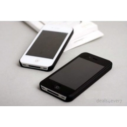 HARD SHELL CASE FOR IPHONE 4S 4G BLACK