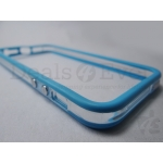 New Transparent Blue Apple iPhone 5 5G Bumper Case cover Metal finish Buttons