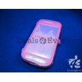 Imported Transparent Pink silicon jelly Cover for samsung galaxy S6102 Y Duos